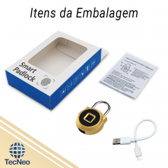 Cadeado Digital Inteligente Dourado